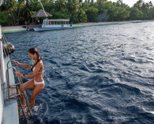 snorkeling dalle barche in crociera Maldive